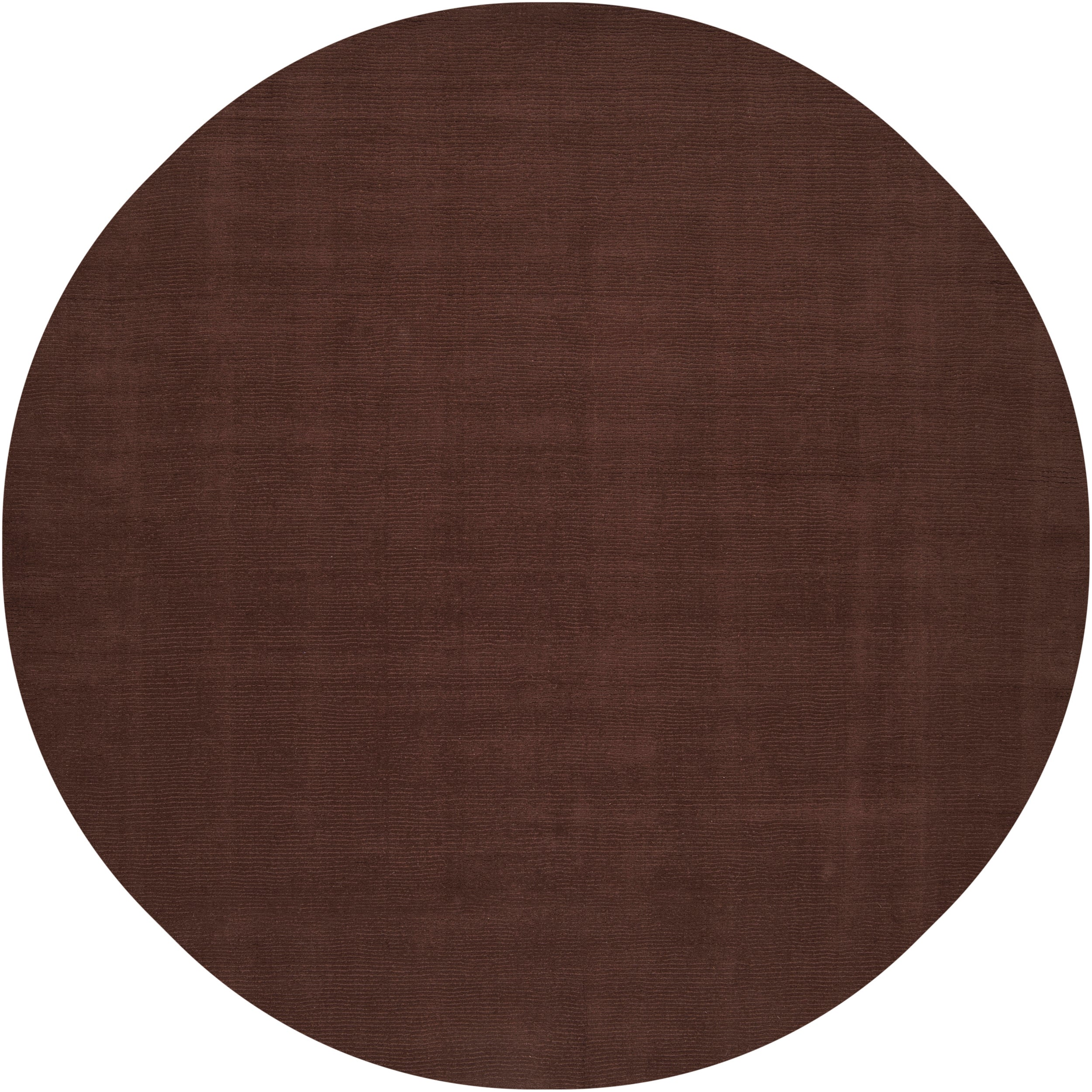 Hand-crafted Brown Solid Casual Nivia Wool Rug (6' Round)