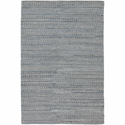 Flat-weave Mandara Blue-Grey Rug (7'9 x 10'6)