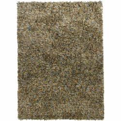 Handwoven Polyester Two-Inch Mandara Shag Rug (9' x 13')