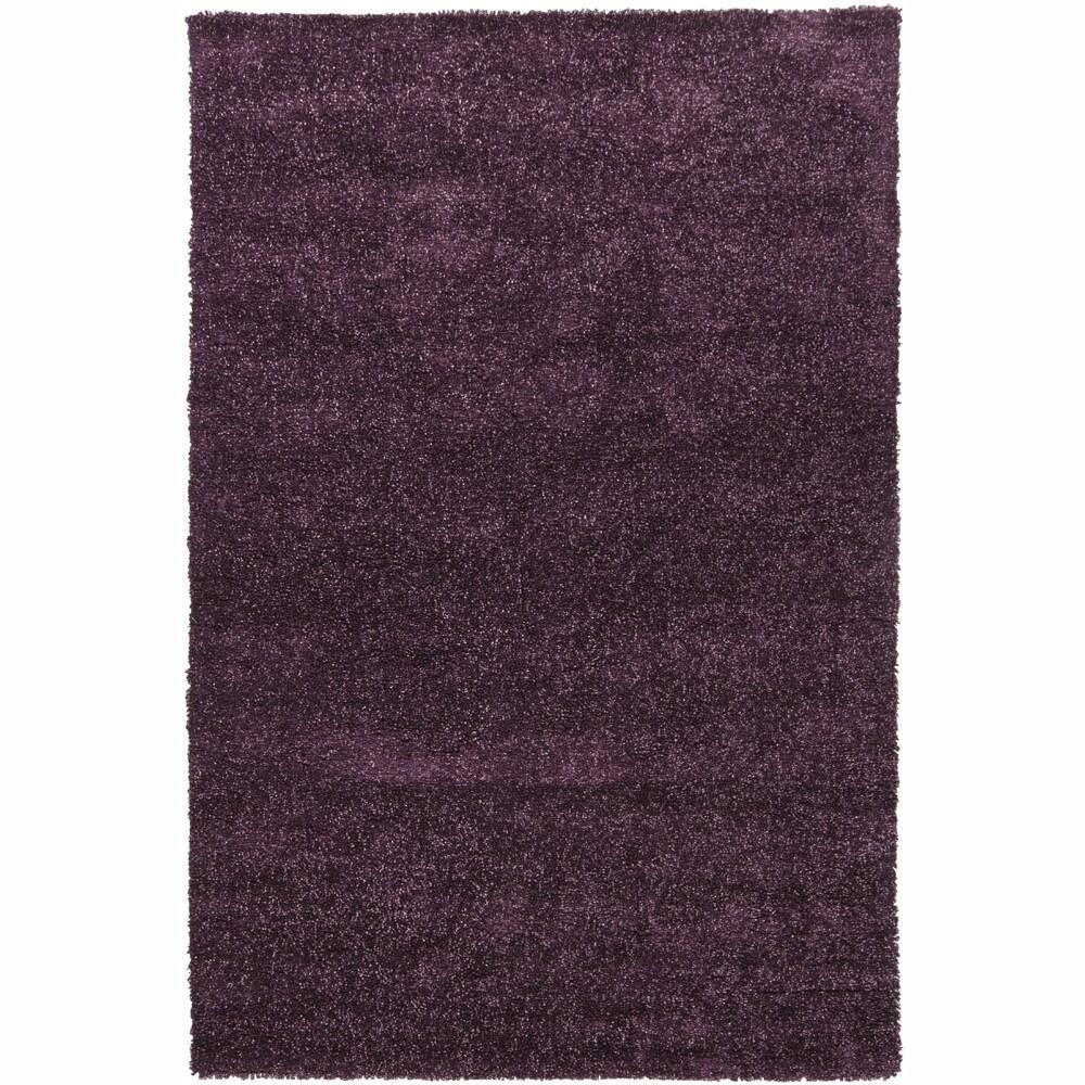 Hand-woven Mandara Lilac Shag Rug (9' x 13')