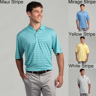 Greg Norman Men's Performance Striped Polo
