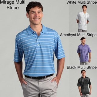 Greg Norman Men's Performance Golf Striped Short Sleeve Shirt