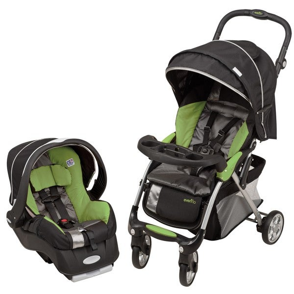 Evenflo Featherlite 400 Travel System in Aloe Green