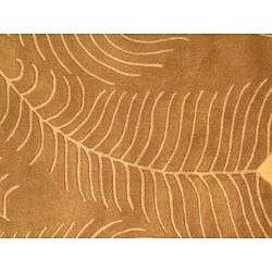 Hand-tufted Spectra Brown Wool Rug (5' x 7'3)
