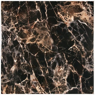 SomerTile 17.75x17.75-inch Eclypsis Negro Ceramic Floor and Wall Tiles (Pack of 7)