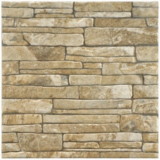 SomerTile 12.2x12.2-in Ariza Beige Porcelain Floor and Wall Tiles (Case of 12)