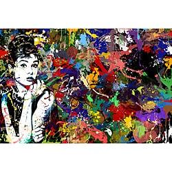 Maxwell Dickson 'Audrey Hepburn' Pop Art Canvas Print