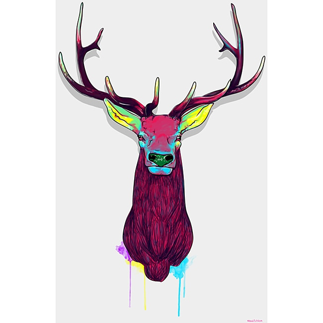 Maxwell Dickson 'Elk Head' Canvas Wall Art