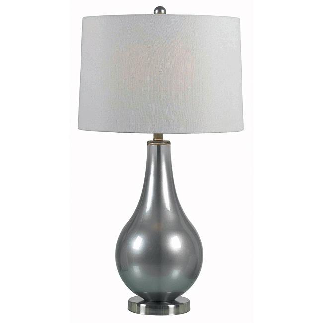 Perkins 29-inch Metallic Pewter Finish Table Lamp