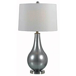 Perkins 29-inch Metallic Pewter Finish Table Lamp