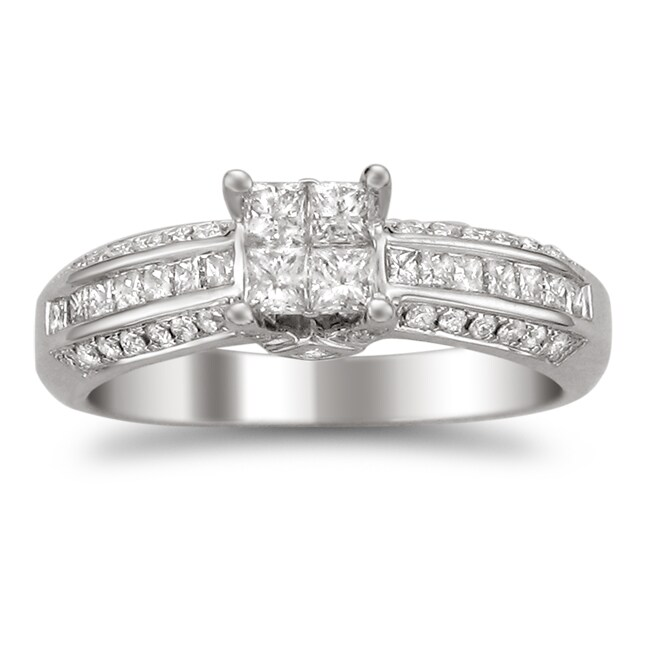14k White Gold 7/8ct TDW Diamond Composite Engagement Ring (H-I, I2)