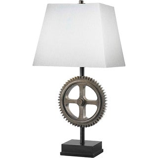 Tulley 30-Inch Weathered Steel Finish Table Lamp