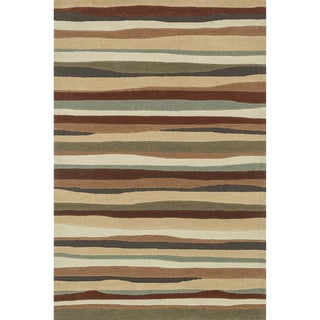 Hand-tufted Chalice Spice Stripes Rug (7'9 x 9'9)