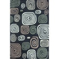 Hand-tufted Chalice Black Multi Rug (7'9 x 9'9)