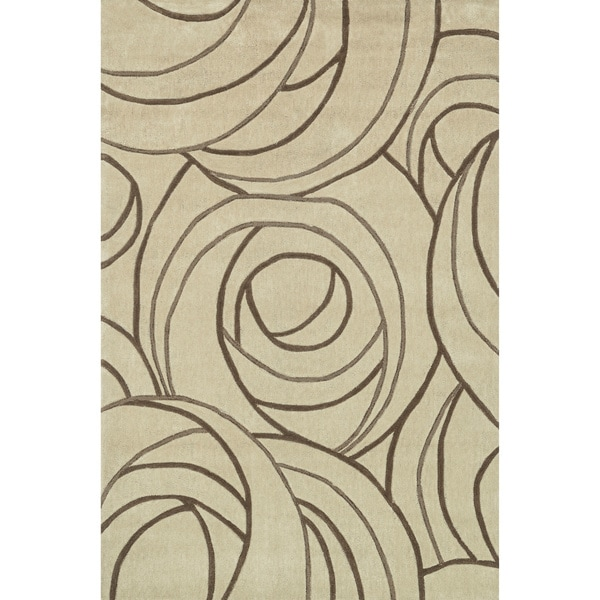 Hand-tufted Chalice Beige Rug (7'9 x 9'9)
