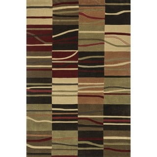 "Contemporary Hand-Tufted Chalice Multi Rug (7'9"" x 9'9"")"