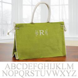 'Hampton' Green Personalized Tote