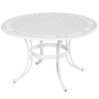 Home Styles Biscayne 48-inch White Finish Round Dining Table