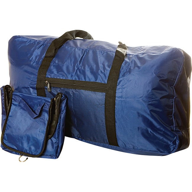 Worthy 2-piece Blue Duffel Bag / Hanging Toiletry Bag Set