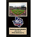 Texas Rangers '40th Anniversary' Patch Frame