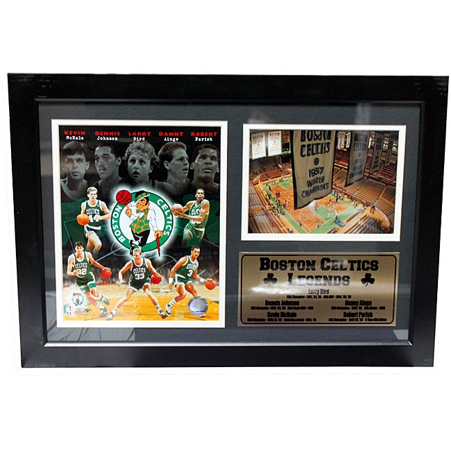 Boston Celtics Legends Photo Stat Frame (12 x 18)