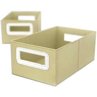 Flow Wall Decor Small Collapsible Storage Olive Bins (Set of 2)