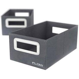 Flow Wall Decor Small Collapsible Titanium Storage Bins (Set of 2)