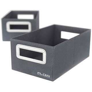 Flow Wall Decor Small Collapsible Titanium Storage Bins (Set of 2)