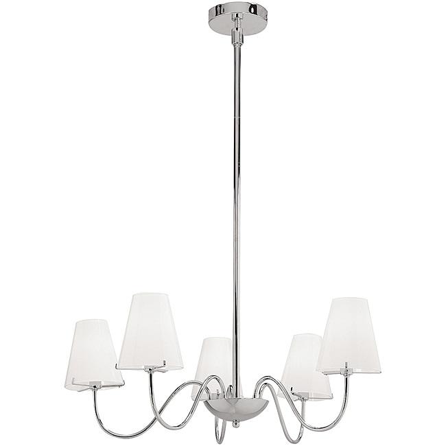 Vienna Chrome 5-light Chandelier