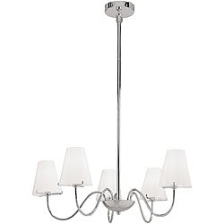 Vienna Chrome 5-light Chandelier