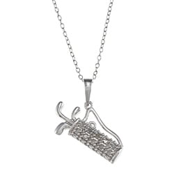 Sterling Silver 1/10ct TDW Diamond Golf Bag Necklace (J-K, I3)