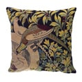 Corona Decor French woven Bird and Flower Theme Pillow