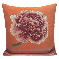 French Woven Flower Decorative Pillow