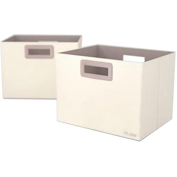 Flow Wall Decor Jumbo Collapsible Cream Storage Bins (Set of 2)