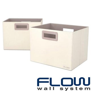 Flow Wall Decor Jumbo Collapsible Cream Storage Bins (Set of 2)