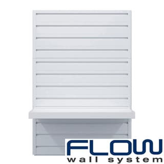 Flow Wall Decor White Shelf