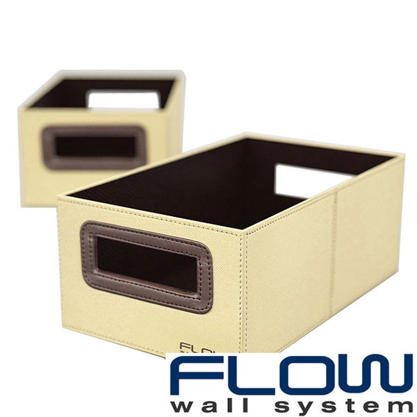 Flow Wall Decor Small Beige Collapsible Storage Bins (Set of 2)