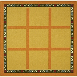 Tufted Tic Tac Toe Rug (3' x 3')
