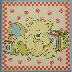 Tufted Teddy Bear Rug (3' x 3')