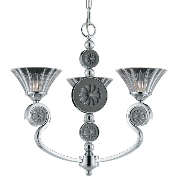 Triarch International Medallion Plated Chrome 3-light Chandelier