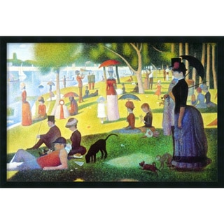 Seurat 'Sunday Afternoon on the Island of La Grande Jatte , 1884-1886' Framed Art Print with Gel Coated Finish