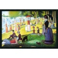 Seurat 'Sunday Afternoon on the Island of La Grande Jatte , 1884-1886' Framed Art Print with Gel Coated Finish