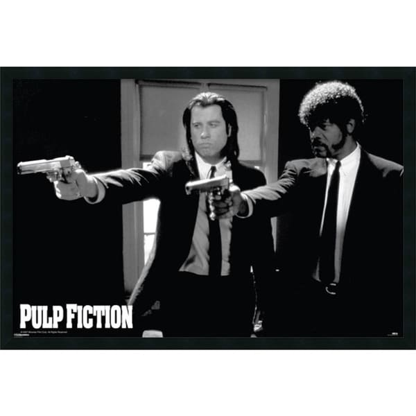 Framed Art Print Pulp Fiction - Duo Guns 38 x 26-inch 8967966
