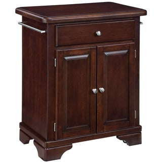 Home Styles Premium Cherry Cuisine Cart with Wood Top