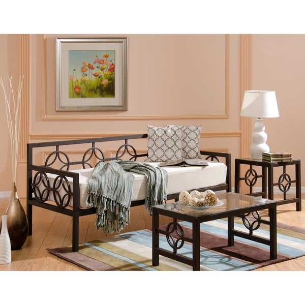 Medallion Bronze Twin Daybed and Memory Foam Mattress