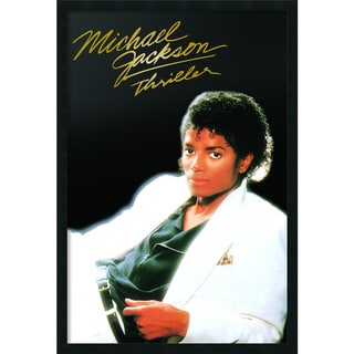 Michael Jackson 'Thriller Album' Gel-textured Art Print