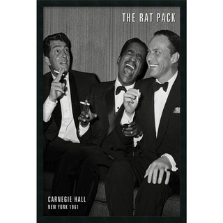 The Rat Pack 'Carnegie Hall' Gel-textured Art Print
