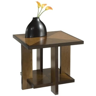 Home Styles Geo Walnut End Table