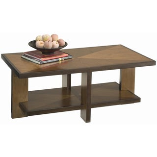 Geo Walnut Cocktail Table