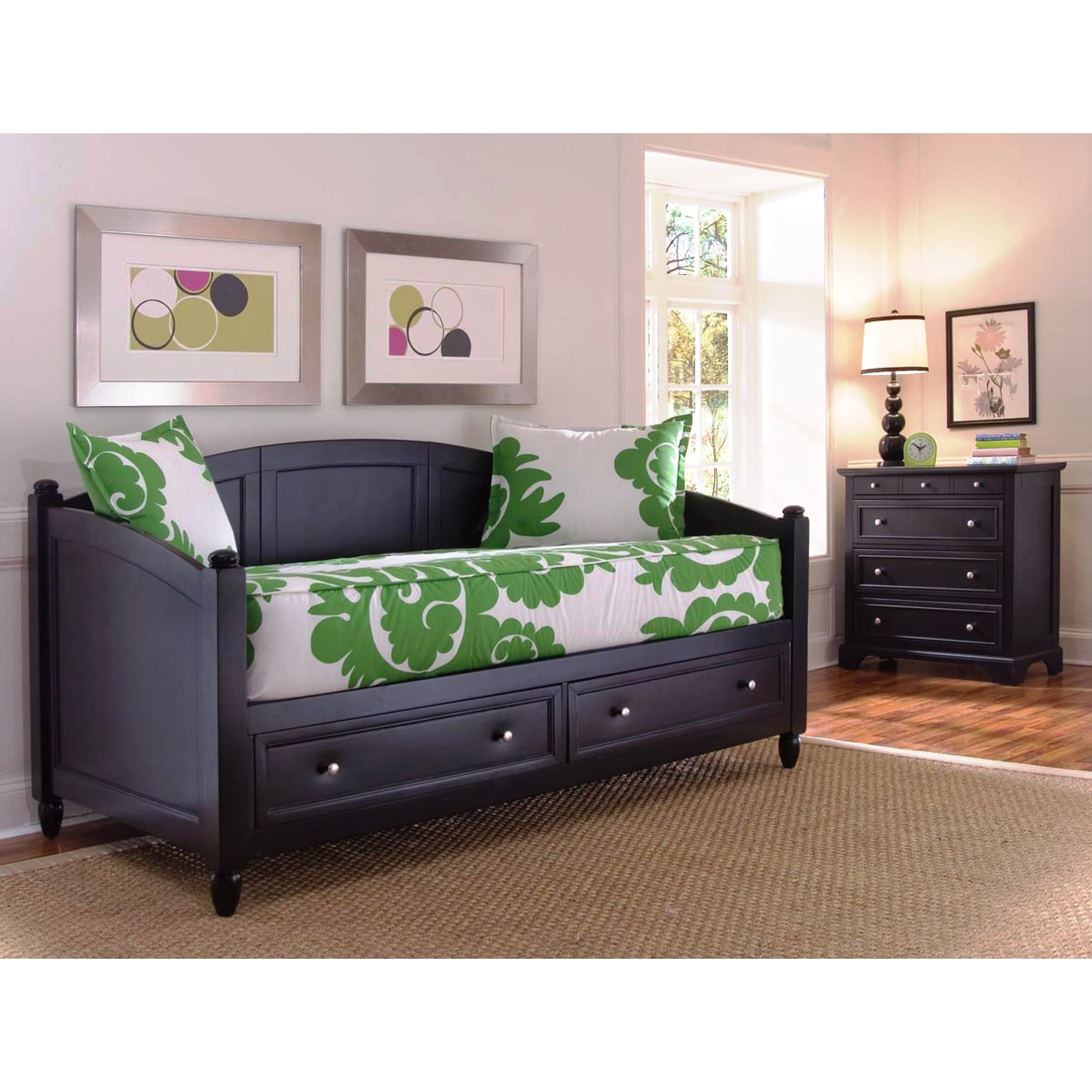 twin size black daybed and chest set bedroom furniture day bed durable